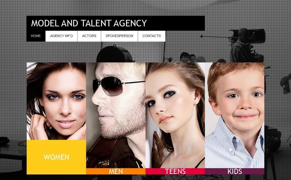 PSD Vorlage für Modellagentur  New Screenshots BIG