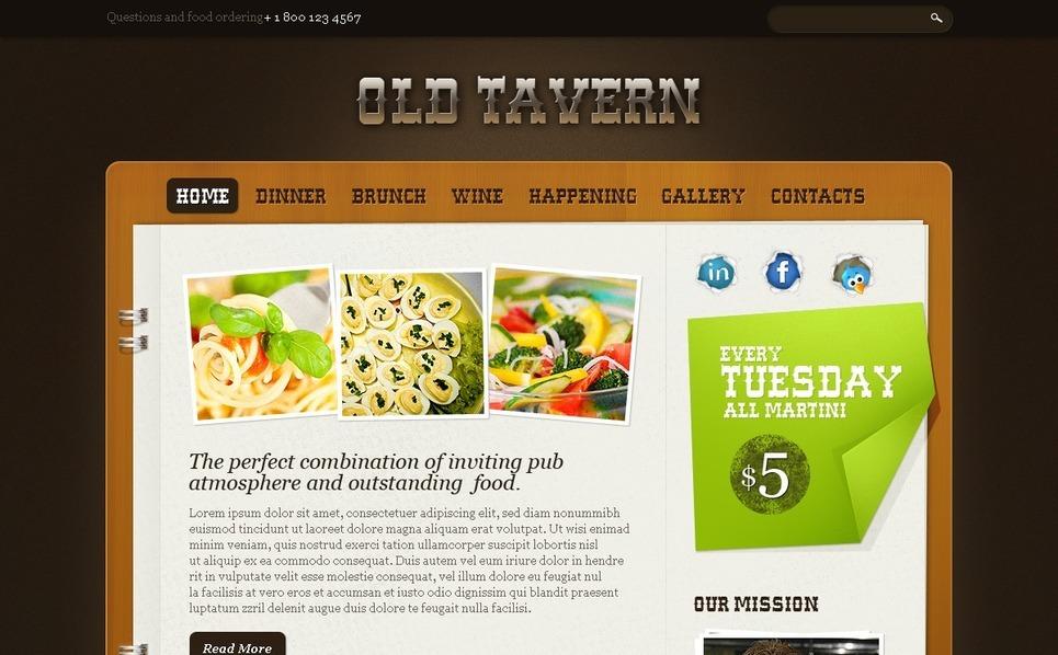 PSD Vorlage für Cafe und Restaurant  New Screenshots BIG