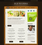 Cafe & Restaurant PSD  Template 54222