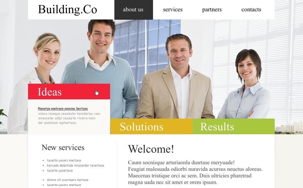 Plantilla PSD #54226 para Sitio de Empresa de construcción New Screenshots BIG