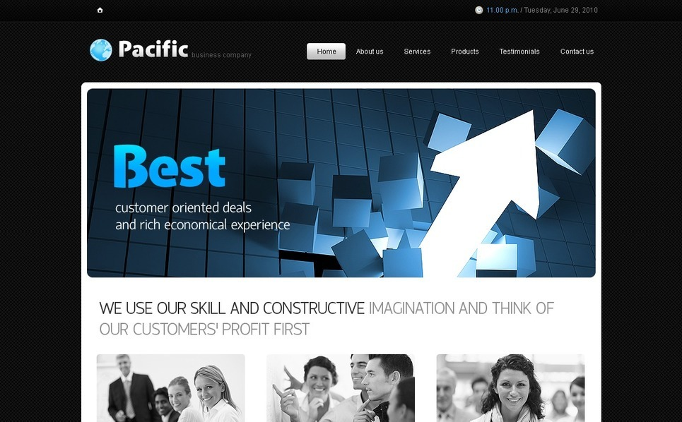 Modèle PSD  pour site d'affaires et de services New Screenshots BIG
