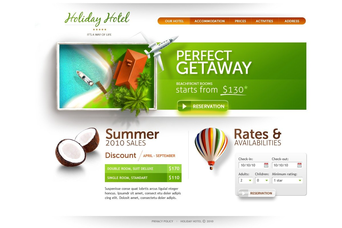 The Holiday Hotel PSD Design 54233, one of the best PSD templates of its kind (hotels, wide), also known as holiday hotel PSD template, royal motel PSD template, PSD template PSD template, exotic PSD template, building PSD template, events PSD template, interior PSD template, cozy PSD template, comfortable room PSD template, spacious PSD template, light PSD template, modern rest PSD template, pool PSD template, floor PSD template, stairs PSD template, staff PSD template, reception PSD template, testimonial PSD template, service PSD template, offer PSD template, booking PSD template, reservation PSD template, order PSD template, location PSD template, security PSD template, wedding PSD template, cerem and related with holiday hotel, royal motel, PSD template, exotic, building, events, interior, cozy, comfortable room, spacious, light, modern rest, pool, floor, stairs, staff, reception, testimonial, service, offer, booking, reservation, order, location, security, wedding, cerem, etc.