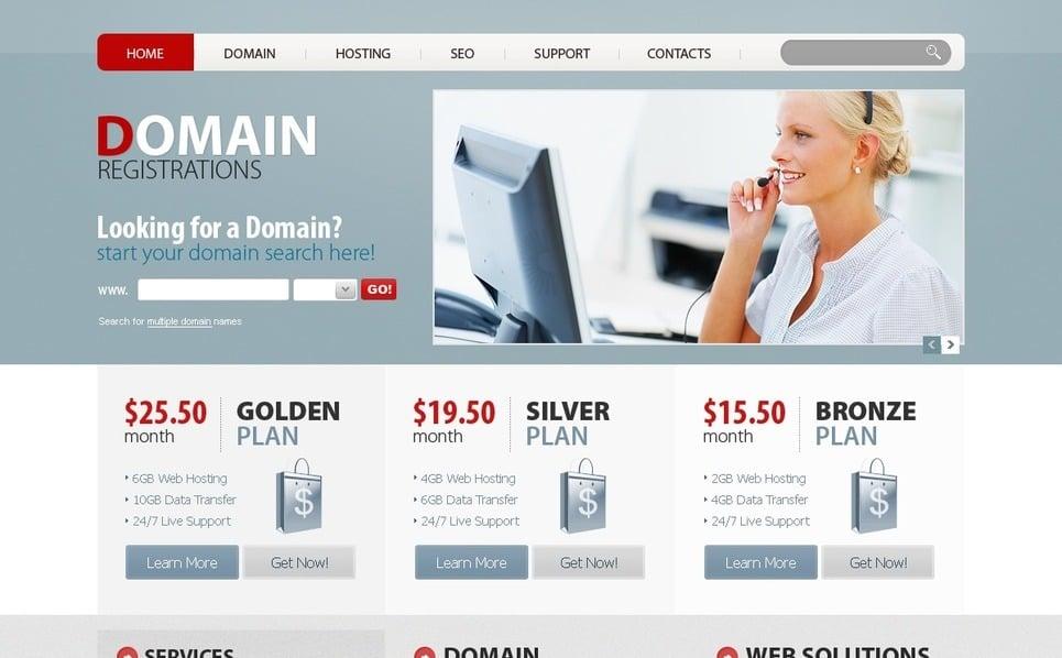 Tema PSD  #54240 per Un Sito di Registrazione di Dominio New Screenshots BIG