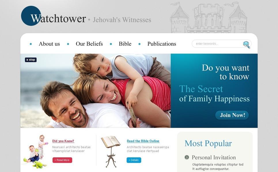 Szablon PSD #54241 na temat: świadkowie Jehowy New Screenshots BIG