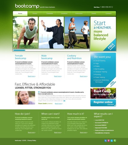 ADOBE Photoshop Template 54243 Home Page Screenshot
