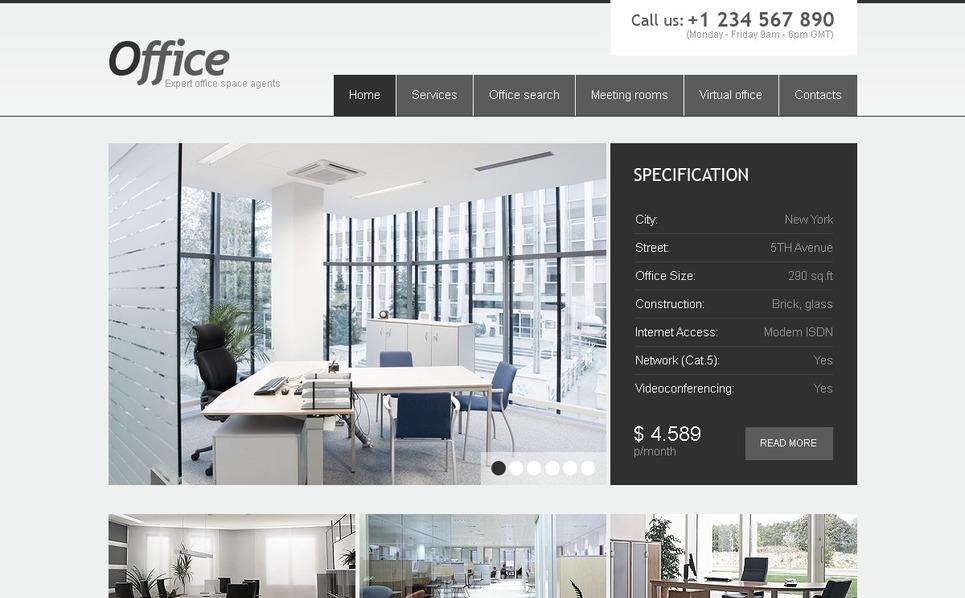 PSD шаблон №54250 на тему  офиса New Screenshots BIG