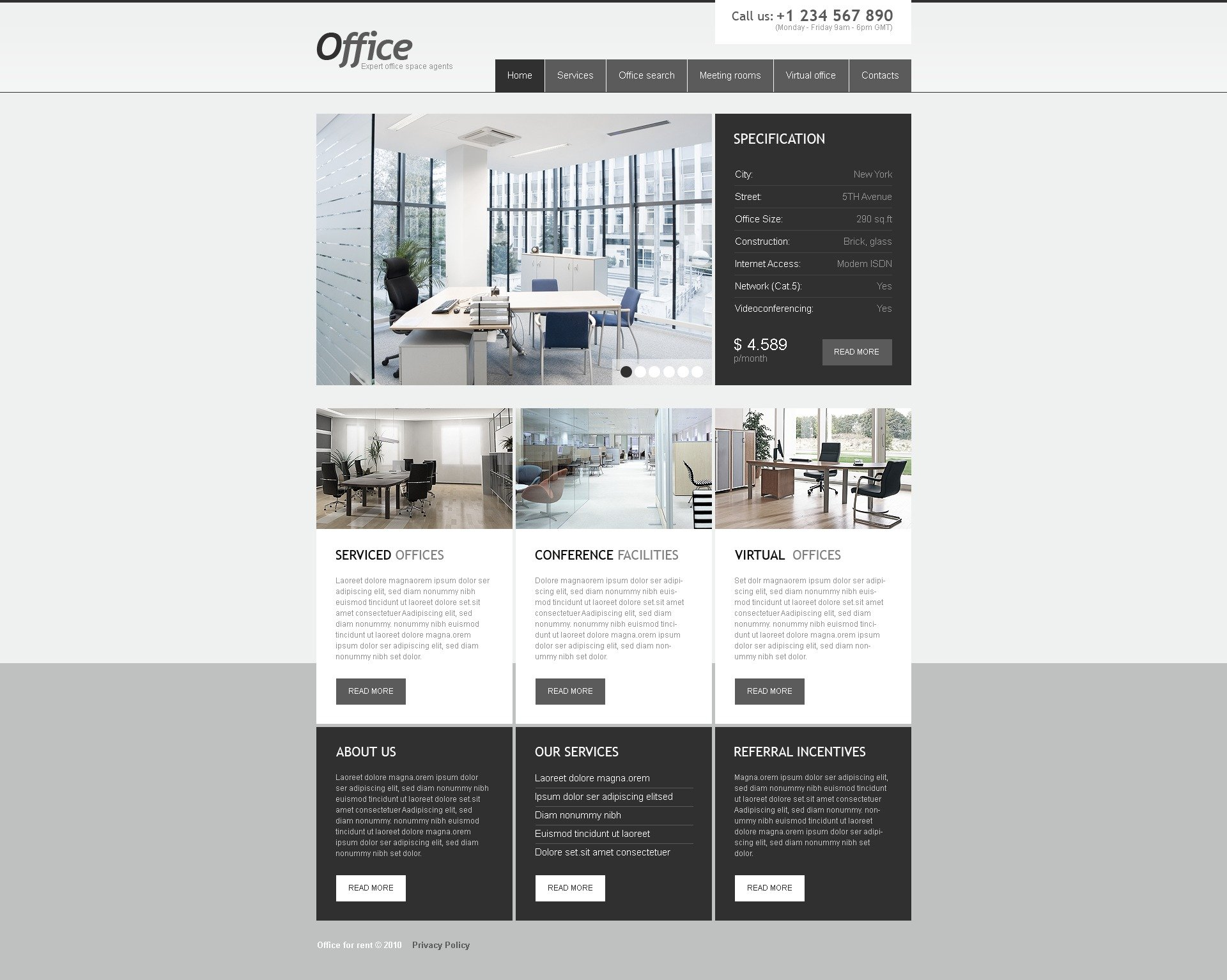 The Office For Rent PSD Design 54250, one of the best PSD templates of its kind (business, wide, jquery), also known as office for rent PSD template, room PSD template, space PSD template, meeting PSD template, business PSD template, virtual PSD template, serviced PSD template, conference and related with office for rent, room, space, meeting, business, virtual, serviced, conference, etc.