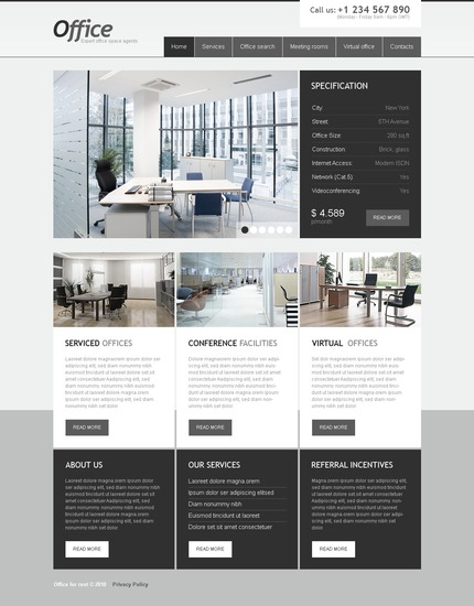 ADOBE Photoshop Template 54250 Home Page Screenshot