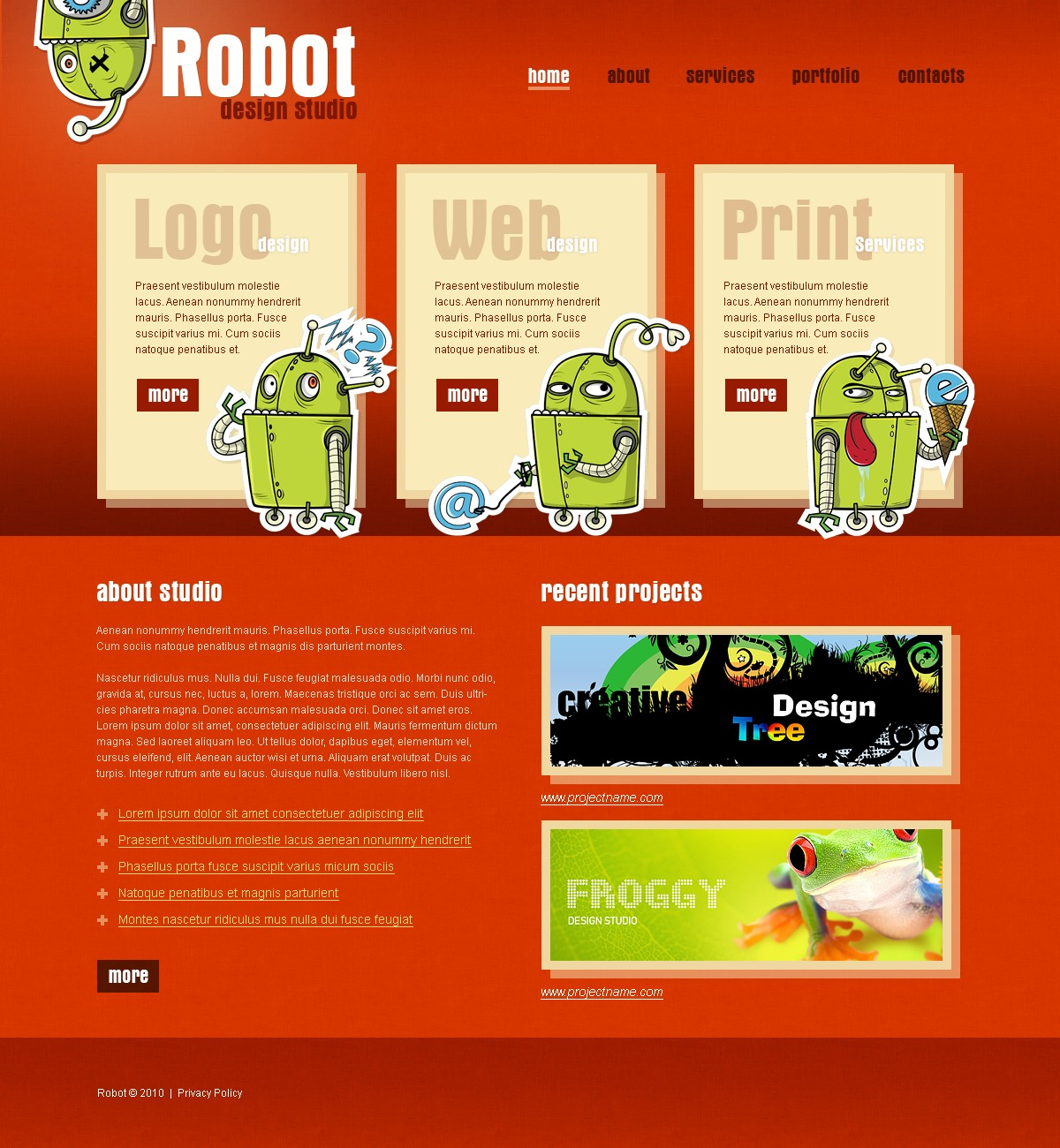 The Robot Design Studio PSD Design 54251, one of the best PSD templates of its kind (web design, wide), also known as robot design studio PSD template, creative art gallery PSD template, artists PSD template, painting PSD template, painters PSD template, web development PSD template, webmasters PSD template, designers PSD template, internet PSD template, www PSD template, sites PSD template, web design PSD template, webpage PSD template, personal portfolio and related with robot design studio, creative art gallery, artists, painting, painters, web development, webmasters, designers, internet, www, sites, web design, webpage, personal portfolio, etc.