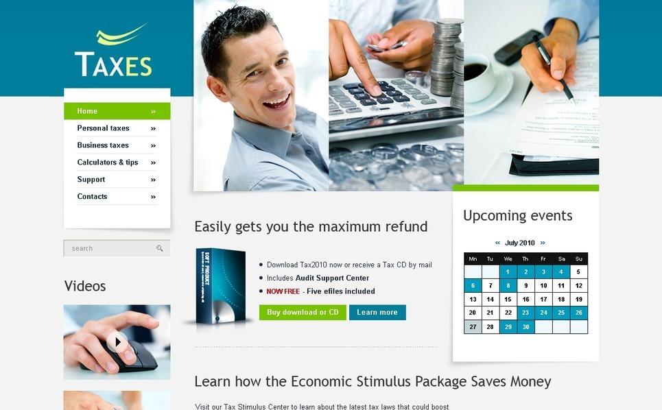 PSD Template over Accounting Website New Screenshots BIG
