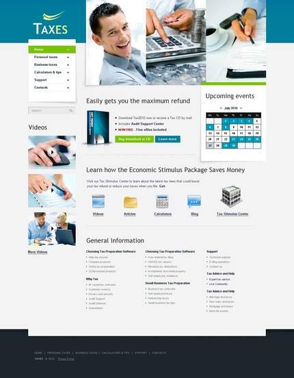 ADOBE Photoshop Template 54252 Home Page Screenshot