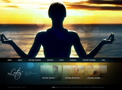 ADOBE Photoshop Template 54253 Home Page Screenshot