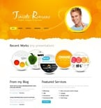 Personal Page PSD  Template 54255
