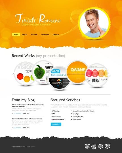 ADOBE Photoshop Template 54255 Home Page Screenshot