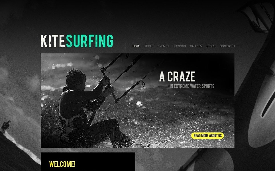 PSD šablona Kitesurfing New Screenshots BIG