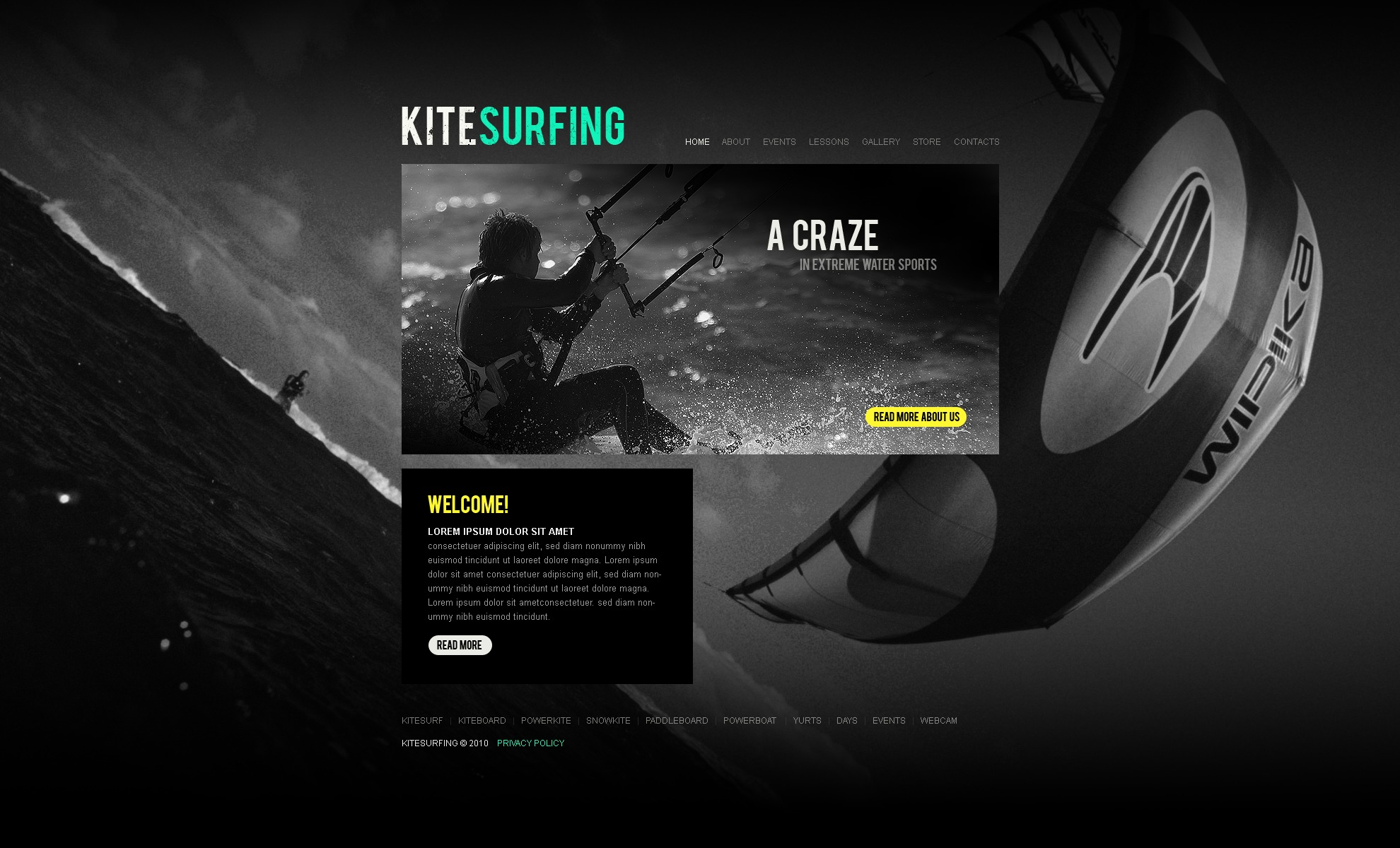 The Kite Kitesurfing Club PSD Design 54260, one of the best PSD templates of its kind (sport, flash 8, wide, black), also known as kite kitesurfing club PSD template, sport PSD template, entertainment PSD template, kiteboarding PSD template, kitesurfing PSD template, extreme club PSD template, training PSD template, trainers PSD template, boards PSD template, equipment PSD template, team PSD template, offers PSD template, services PSD template, recreation PSD template, gallery PSD template, shop PSD template, products PSD template, guide PSD template, support and related with kite kitesurfing club, sport, entertainment, kiteboarding, kitesurfing, extreme club, training, trainers, boards, equipment, team, offers, services, recreation, gallery, shop, products, guide, support, etc.