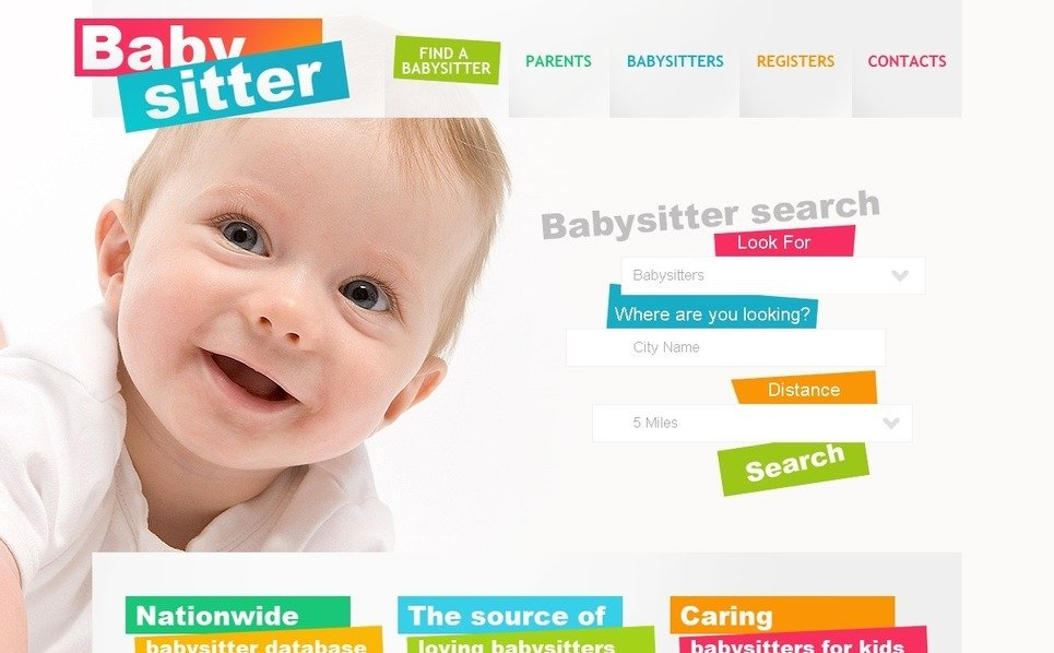 PSD Vorlage für Babysitter  New Screenshots BIG