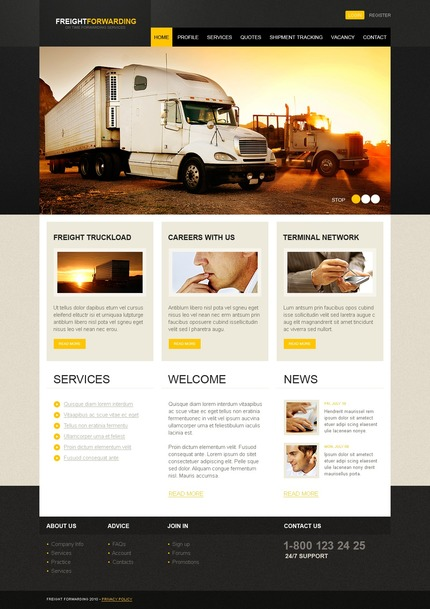 ADOBE Photoshop Template 54263 Home Page Screenshot