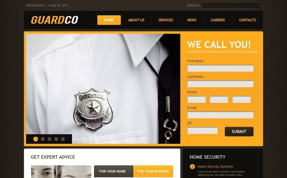 Template Photoshop  para Sites de Segurança №54266 New Screenshots BIG