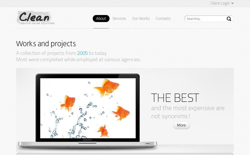 Szablon PSD #54269 na temat: web design New Screenshots BIG