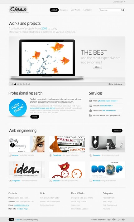 ADOBE Photoshop Template 54269 Home Page Screenshot