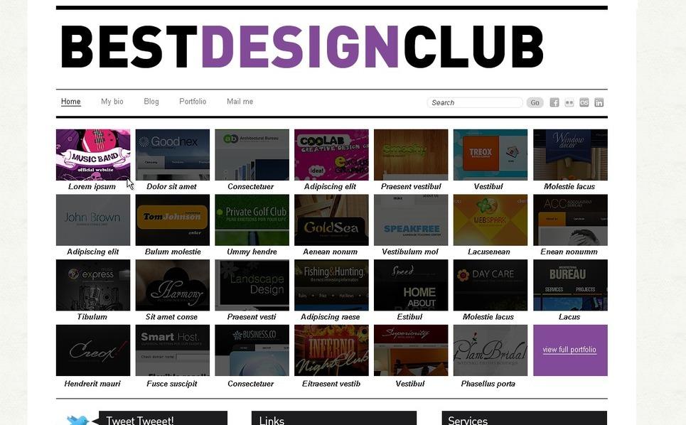 Template PSD  #54271 per Un Sito di Design Studio New Screenshots BIG