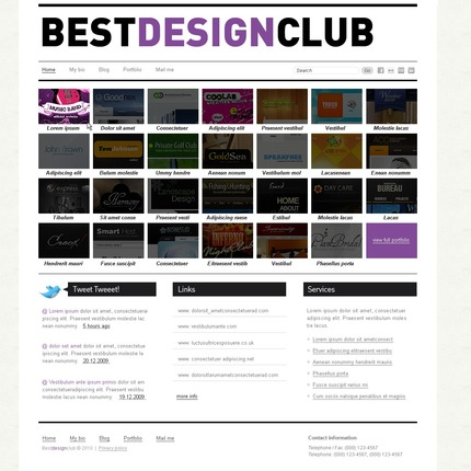 ADOBE Photoshop Template 54271 Home Page Screenshot