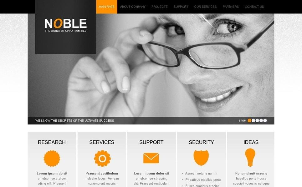 PSD шаблон №54277 на тему Бизнес и услуги New Screenshots BIG