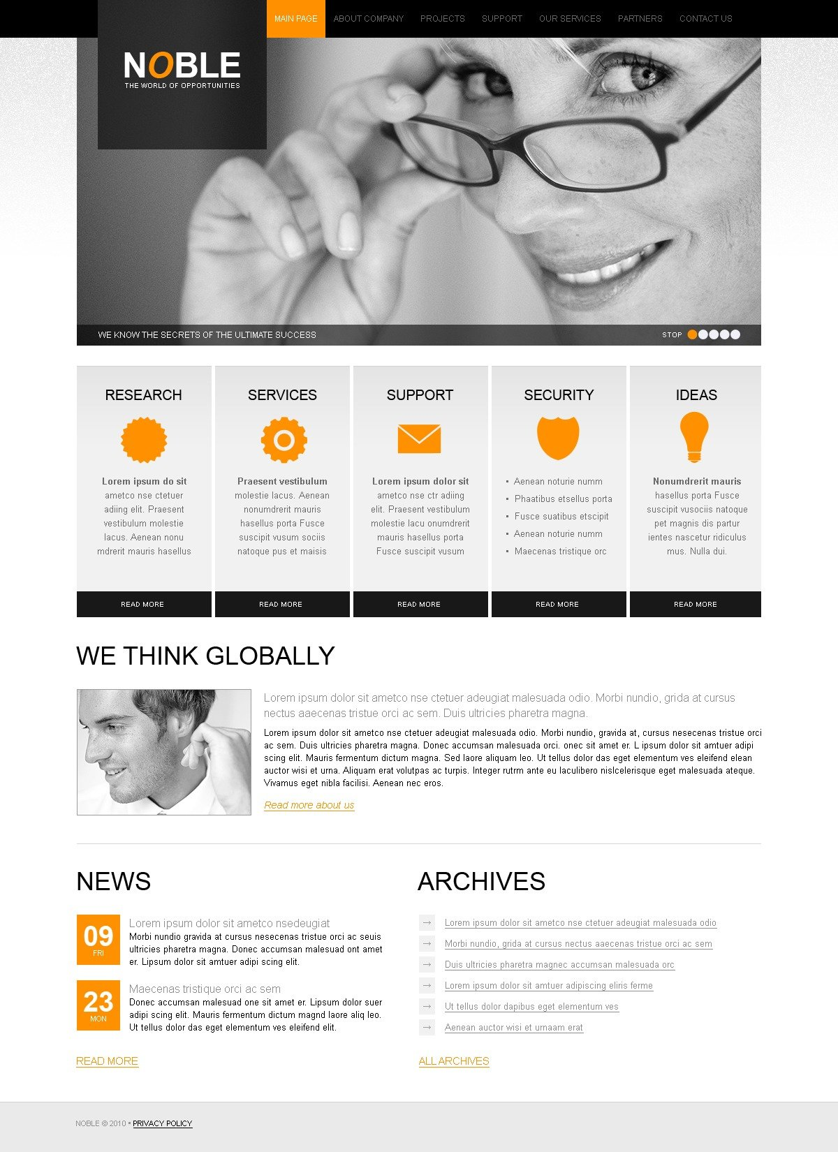 The Noble Business Company PSD Design 54277, one of the best PSD templates of its kind (business, flash 8, wide), also known as noble business company PSD template, corporate solutions PSD template, innovations PSD template, contacts PSD template, service PSD template, support PSD template, information dealer PSD template, stocks PSD template, team PSD template, success PSD template, money PSD template, marketing PSD template, director PSD template, manager PSD template, analytics PSD template, planning PSD template, limited PSD template, office PSD template, sales and related with noble business company, corporate solutions, innovations, contacts, service, support, information dealer, stocks, team, success, money, marketing, director, manager, analytics, planning, limited, office, sales, etc.
