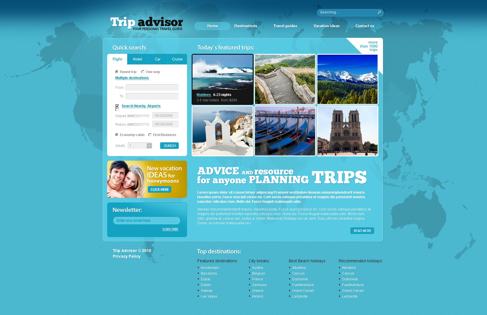 The Trip Advisor PSD Design 54281, one of the best PSD templates of its kind (travel, wide, jquery), also known as trip advisor PSD template, travel PSD template, expert agency PSD template, compass PSD template, tour country PSD template, resort PSD template, spa PSD template, flight hotel PSD template, car PSD template, rental PSD template, cruise PSD template, sights PSD template, reservation PSD template, location PSD template, authorization PSD template, ticket PSD template, guide PSD template, beach PSD template, sea PSD template, relaxation PSD template, recreation PSD template, impression PSD template, air PSD template, liner PSD template, traveling PSD template, apartment PSD template, vacation PSD template, rest PSD template, comfort PSD template, destinat and related with trip advisor, travel, expert agency, compass, tour country, resort, spa, flight hotel, car, rental, cruise, sights, reservation, location, authorization, ticket, guide, beach, sea, relaxation, recreation, impression, air, liner, traveling, apartment, vacation, rest, comfort, destinat, etc.