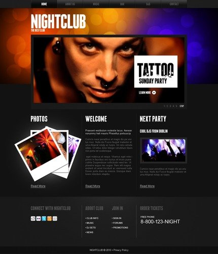 ADOBE Photoshop Template 54282 Home Page Screenshot
