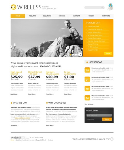 ADOBE Photoshop Template 54284 Home Page Screenshot