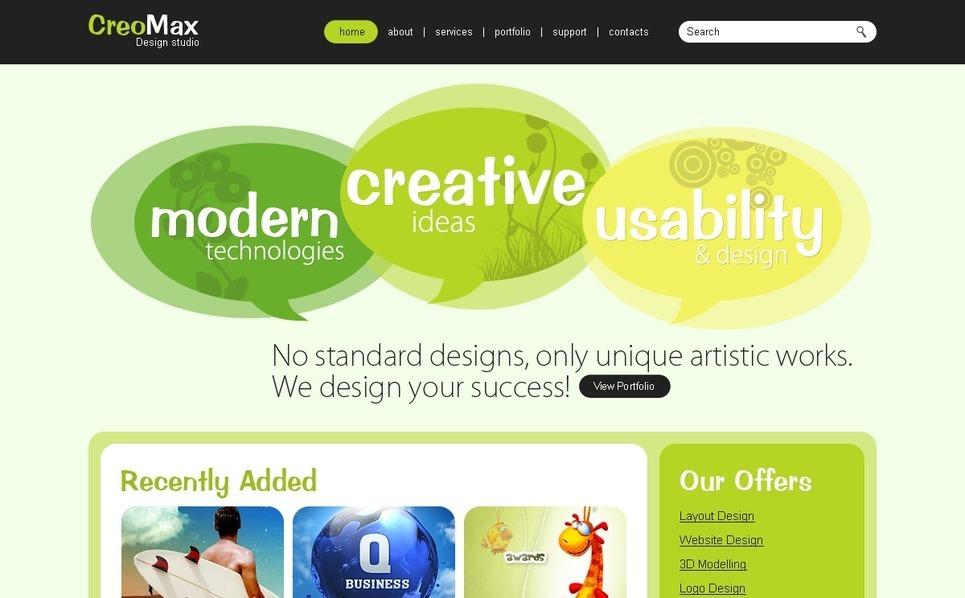 Web design  PSD sablon New Screenshots BIG