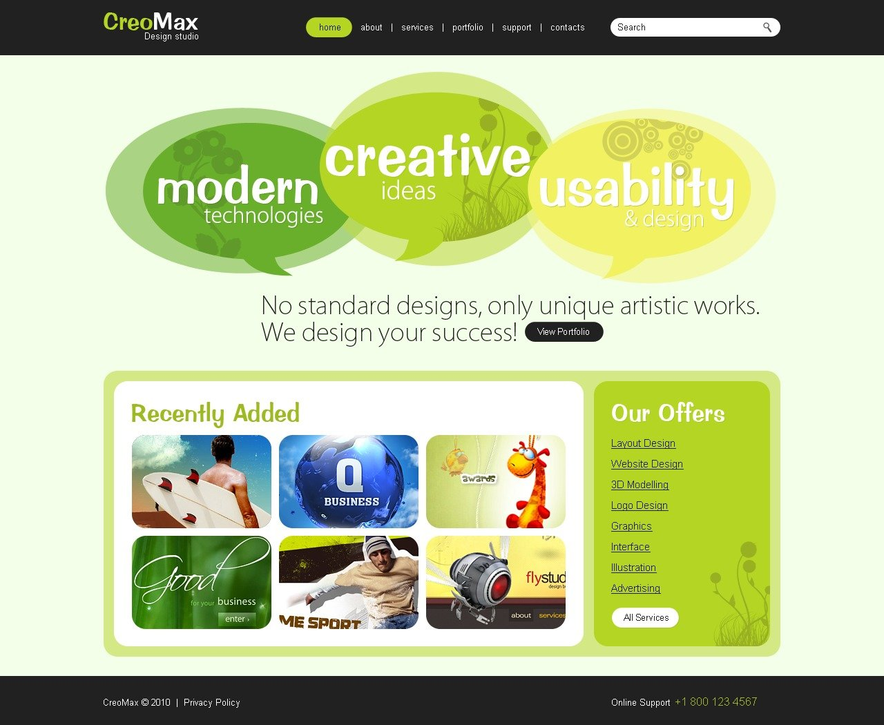 The Creo Max Design Studio PSD Design 54287, one of the best PSD templates of its kind (web design, flash 8, wide), also known as creo max design studio PSD template, creative art gallery PSD template, artists PSD template, painting PSD template, painters PSD template, web development PSD template, webmasters PSD template, designers PSD template, internet PSD template, www PSD template, sites PSD template, web design PSD template, webpage PSD template, personal portfolio and related with creo max design studio, creative art gallery, artists, painting, painters, web development, webmasters, designers, internet, www, sites, web design, webpage, personal portfolio, etc.