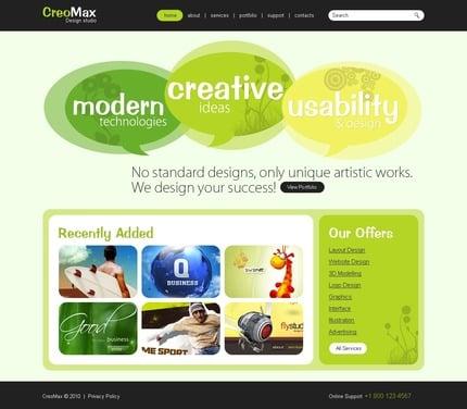 ADOBE Photoshop Template 54287 Home Page Screenshot