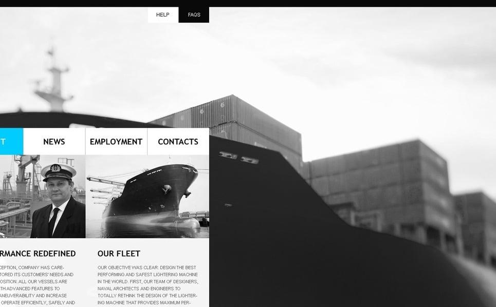 Template Photoshop  para Sites de Templates Marítimos №54289 New Screenshots BIG