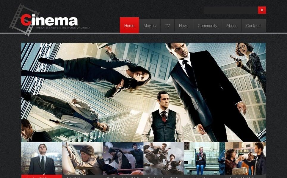 PSD Template over Films New Screenshots BIG