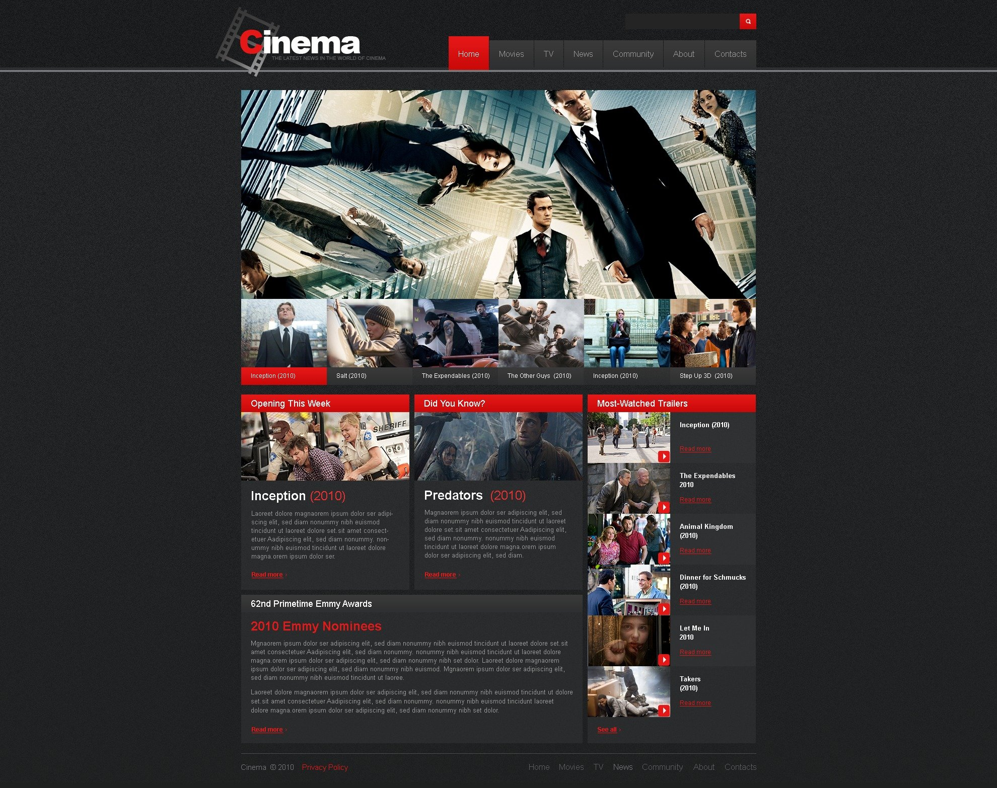 The Cinema Videox PSD Design 54291, one of the best PSD templates of its kind (portal, entertainment, most popular, wide, jquery), also known as cinema videox PSD template, video PSD template, movie PSD template, film PSD template, rate blog PSD template, videos PSD template, view PSD template, download PSD template, rating PSD template, comments PSD template, movies and related with cinema videox, video, movie, film, rate blog, videos, view, download, rating, comments, movies, etc.