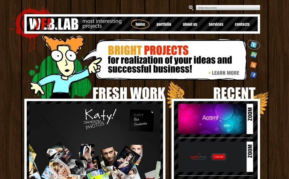 Plantilla PSD #54293 para Sitio de Diseño Web New Screenshots BIG