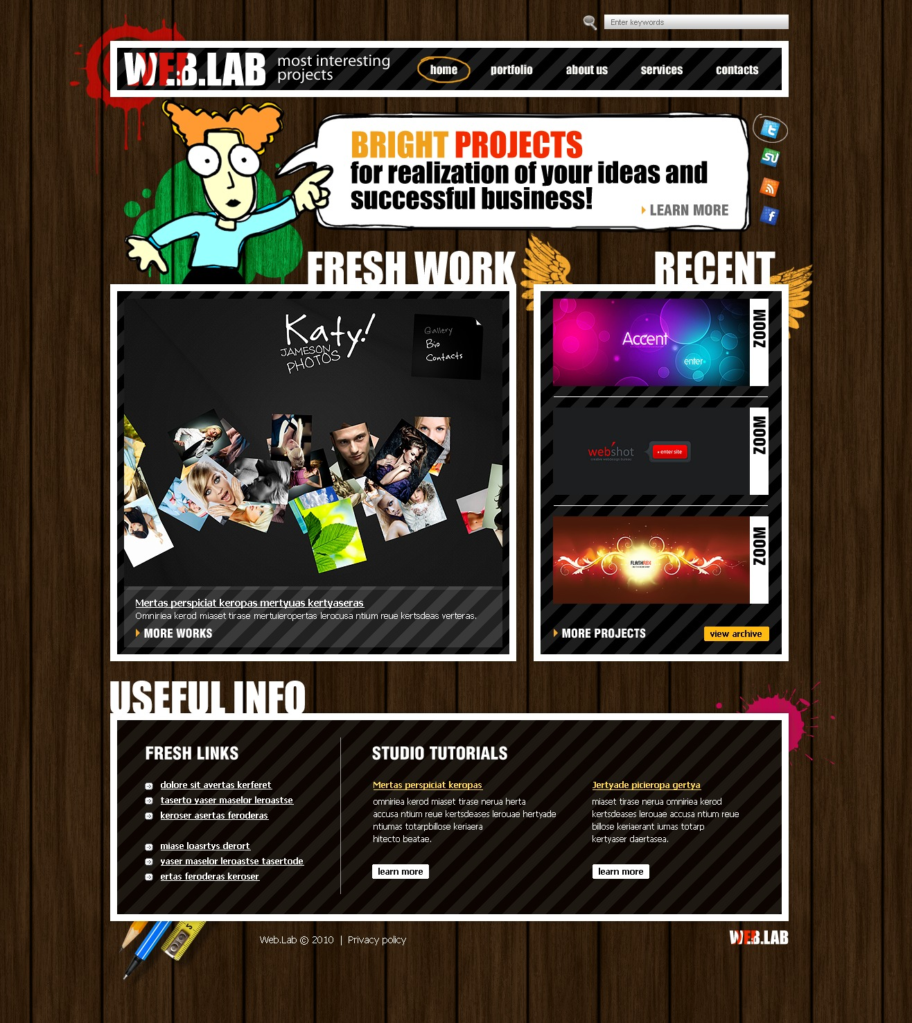 The Web Lab Design Studio PSD Design 54293, one of the best PSD templates of its kind (web design, wide, jquery), also known as web lab design studio PSD template, creative art gallery PSD template, artists PSD template, painting PSD template, painters PSD template, web development PSD template, webmasters PSD template, designers PSD template, internet PSD template, www PSD template, sites PSD template, web design PSD template, webpage PSD template, personal portfolio and related with web lab design studio, creative art gallery, artists, painting, painters, web development, webmasters, designers, internet, www, sites, web design, webpage, personal portfolio, etc.