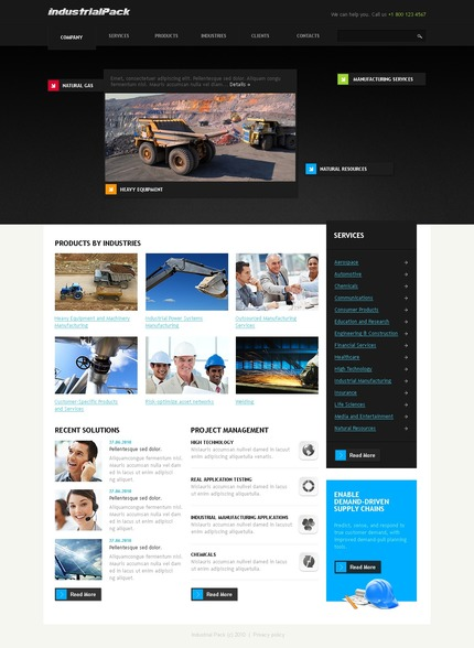 PSD макет сайта №54294