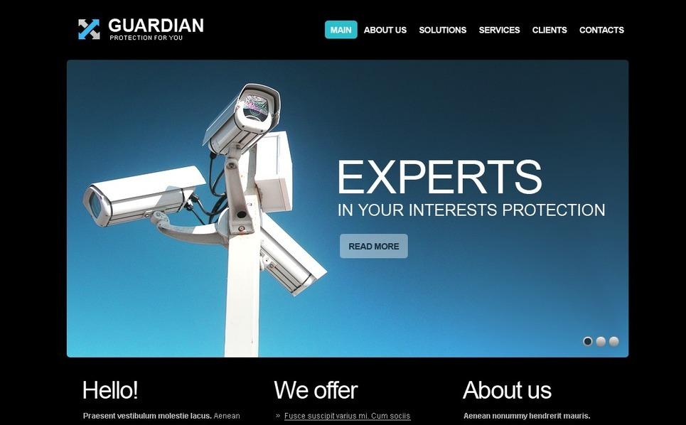 PSD шаблон на тему безпека New Screenshots BIG