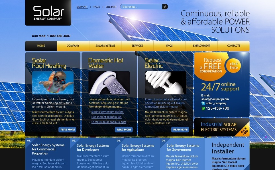 PSD Template over Zonne-energie New Screenshots BIG