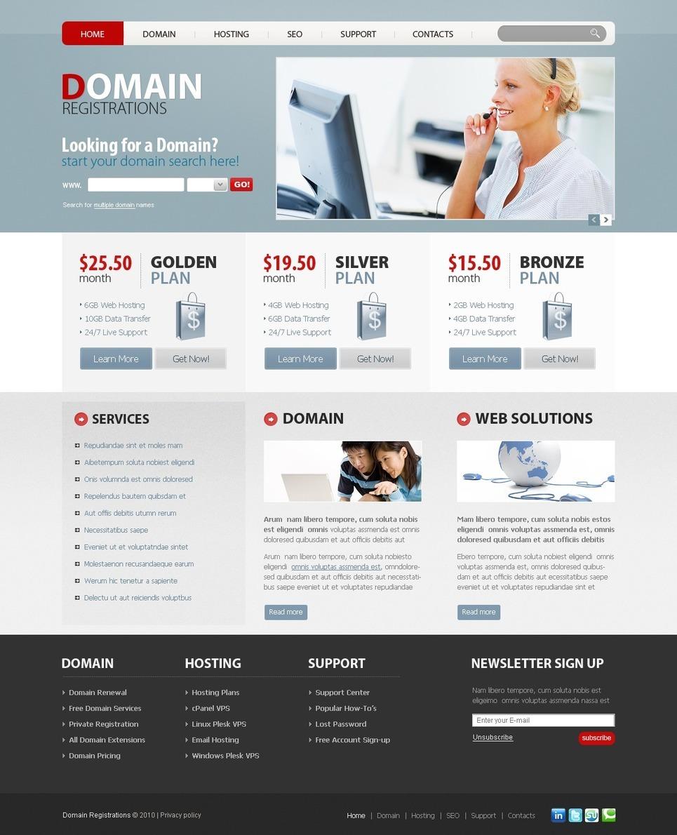 Domain Registrar PSD Template New Screenshots BIG
