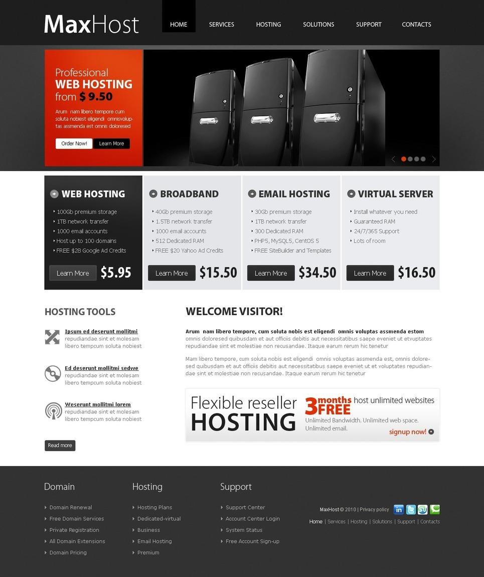 Hosting PSD Template New Screenshots BIG