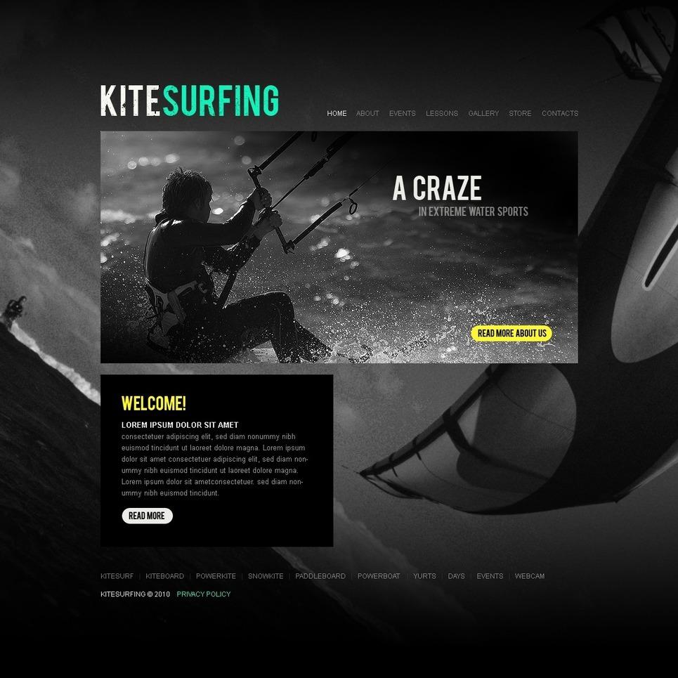 Kitesurfing PSD Template New Screenshots BIG