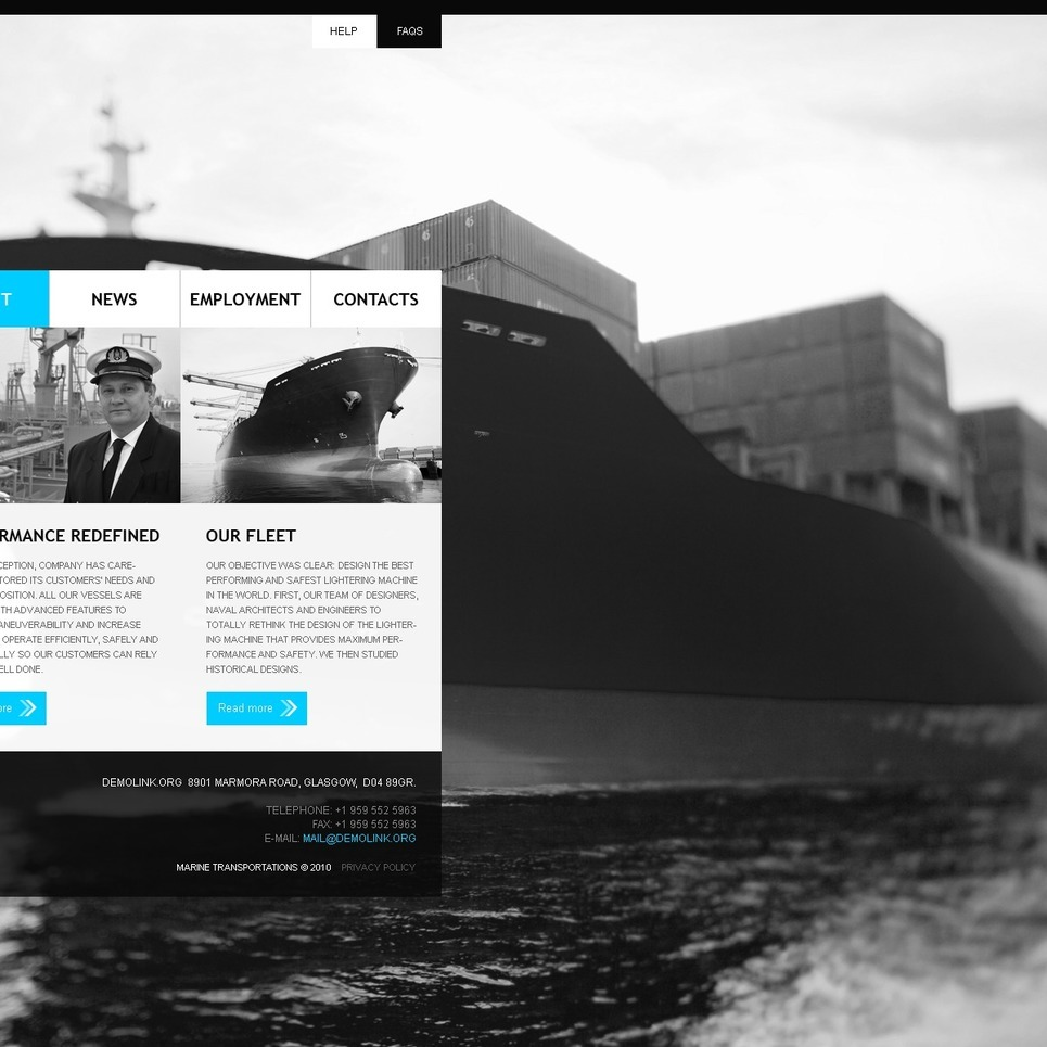 Maritime PSD Template New Screenshots BIG