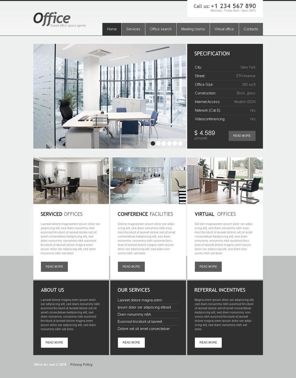 Office PSD Template New Screenshots BIG
