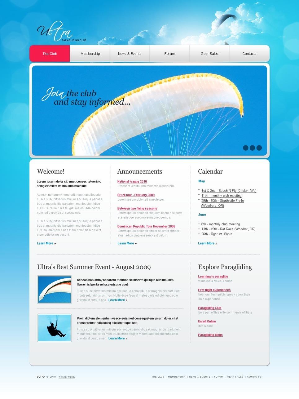 Paragliding PSD Template New Screenshots BIG