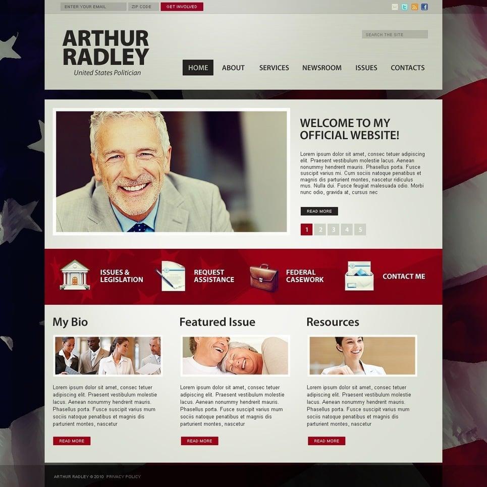 Political Candidate PSD Template New Screenshots BIG